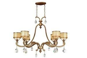 016 Corbett Lighting - Corbett Lighting 71-016 Roma 8+4+4LT Chandelier, Antique Roman Silver Finish - Cream ICE, Crystal Glass