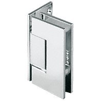 C.R. LAURENCE GEN044PN CRL Polished Nickel Geneva 044 Series Wall Mount Offset Back Plate Hinge
