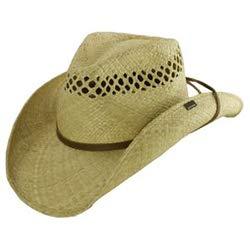 Stetson And Dobbs Hats TSBRGR-9334 Bridger,Regular Hat, Natural - XL Brim Straw Cowboy Hat