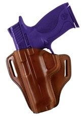 - Bianchi #57 Remedy Open Top Leather Holster, Tan, Left Hand, SZ14, Glock 42 .380 Cal.