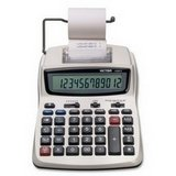 1208-2 Two-Color Compact Printing Calculator, 12-Digit LCD, Black/Red by Victor