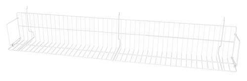 48 x 6 x 6 ½ inch White CD/DVD/Cassette Shelf - for Slatwall or Pegboard ()