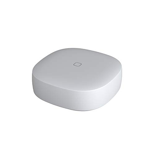 Samsung SmartThings Button | Controls Connected Smart Home Devices Remotely | Sets Lights, Electronics, Small Appliances to Turn On and Off |  Adjusts Temperature | White