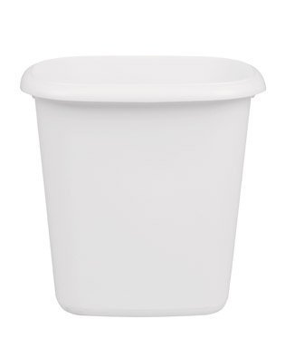 Rubbermaid Home 295300-WHT Vanity Wastebasket 6.0 (quarts) (4-Pack) (Quart Wastebasket)