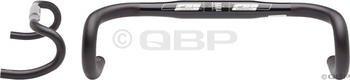 FSA Omega Compact 40cm 31.8 Round Drop Bar Black