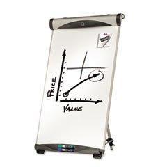 Quartet Magnetic Dry-erase Tripod Easel-Magnetic Dry-erase Easel, Adjustable Height, 73''H, Silver