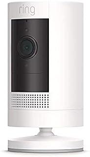 La cámara de seguridad Ring Stick Up Cam Battery – Funciona con Alexa – Blanca