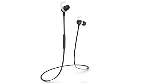 NeoJDX Triumph Bluetooth Headphones, Sweat Proof Wireless Earbuds for Sports and Work Out, IP certified Waterproof earphones, With Built-in Mic and APTX Stereo for best performance – Black