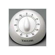 Taylors White Mechanical Analog Timer, Times up to 60 minutes - 6 per case.