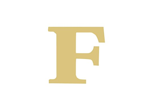 Letter F Classic Font Unfinished Wood Letter Home Decor Door Hanger MDF Shape Canvas