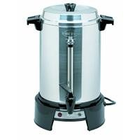 West Bend 13500 55-Cup Polished-Aluminum Commercial Coffee Urn