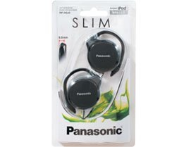 Panasonic- Rp-hs46e-k Slim Clip On Earphone - (Panasonic Earphones Headphones)