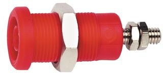 POMONA 72930-2 BANANA JACK, 36A, SCREW, RED