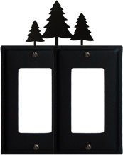 8 Inch Pine Trees - 8 Inch Pine Trees Double GFI Cover