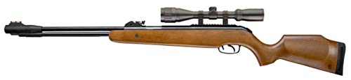 Browning Pellet 820 FPS 0.22 Caliber Air Rifle with Lever Action & Scope, Brown