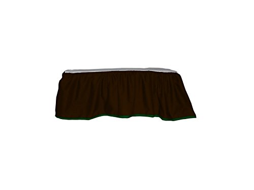 Baby Doll Bedding Solid Two Tone Crib Skirt/Dust Ruffle, Brown/Green