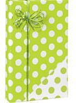 (Reversible Polka Dot Citrus Lime Green & White Gift Wrapping Paper Roll 16 Foot)
