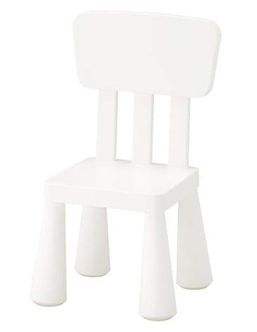 Ikea Mammut Kids Indoor / Outdoor Children's Chair, White Color - 1 Pack