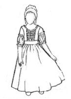 Amazon.com: Small Girls 18th Century Gown Pattern
