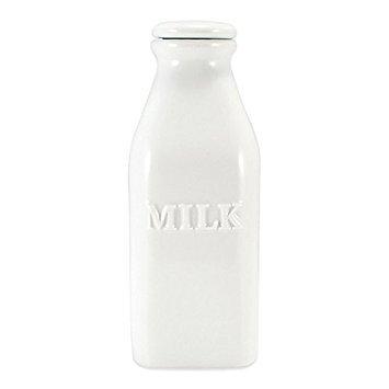 White Porcelain 1-Quart Milk Bottle by Everyday White