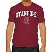 Stanford Cardinal Adult Arch   Logo Soft Style Gameday T Shirt   Cardinal   Large