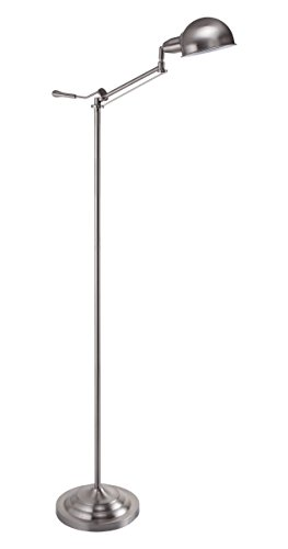 Dome Chrome Floor Lamp - SOLLED Brush Nickel Adjustable Task Floor Lamp, 31186f-Bn, 63