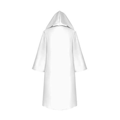 Cosplay Cap Encapuchonné Costumes Meijunter Manteau Unisex Halloween Blanc Fête wqXnIIaz7