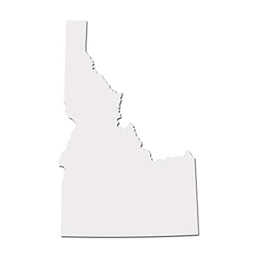 Idaho GEM State Boise Pride Decal Sticker - White 5