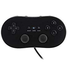 Poulep 1 Pack Classic Retro Wired Controller Pro for Nintendo Wii (Black)