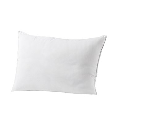 Exquisite Hotel Standard Size Bed Pillow- Single White Hotel Pillow- Gel Fiber Filled FIRM Gel Pillow with Hypoallergenic Classic Cover- Best Pillow For Side Sleepers & Back Sleepers (Hotel Pillow Collection Down Firm)