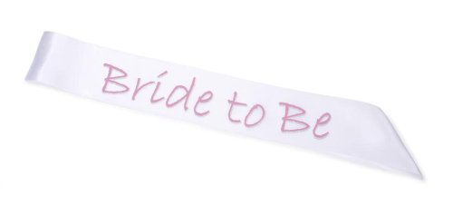 Bride Be Sash Pink Letters