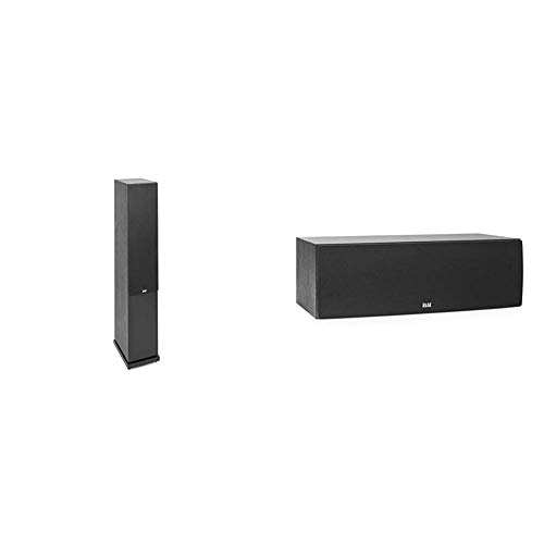 ELAC Debut 2.0 F6.2 Floorstanding Speaker, Black (Each) & Debut 2.0 C6.2 Center Speaker, Black