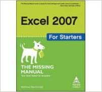 Read Excel 2007 for Starters: The Missing Manual PDF