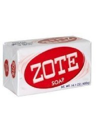 Zote Laundry Soap Bar Pink 14.1 Ounce Each (Pack of 4)
