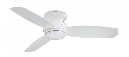 Minka-Aire F593-WH Flush Mount, 3 White Blades Ceiling fan with 49 watts light, White - Flush 44' Ceiling Fan