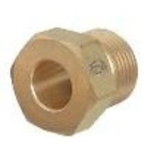 Western Enterprises 92 Regulator Inlet Nuts, Argon, Helium, Nitrogen, Brass, (Brass Regulator Nut)