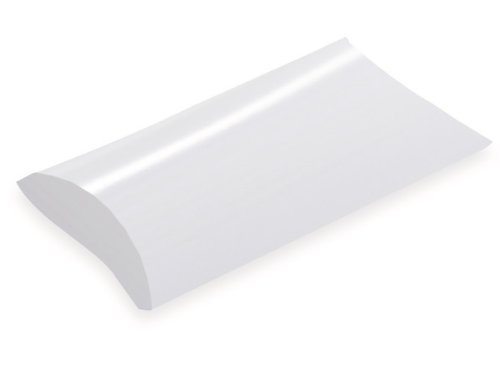 Pack Of 12, Medium Solid White One-Piece Folding Pillow Boxes 5