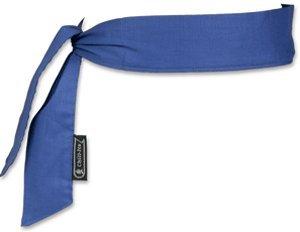 Ergodyne CHILL-ITS COOLING NECK BANDANA/HEADBAND - SOLID BLUE - 12 PIECE (Cooldanna Cooling Headband)