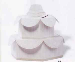 Cake Shaped Wedding Card Holder Box and Table Centerpiece