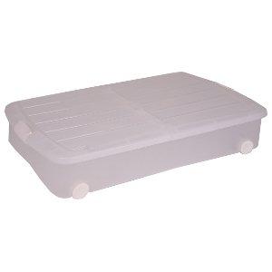 Iris Ohyama Caja Debajo de la Cama de plástico Transparente, Rodillo Box, Almacenamiento Debajo