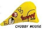Yeowww! Chubby Mouse Organic Catnip Cat Toy, 10 cm