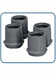 Walker Replacement Rubber Tips Grey (Box of (Replacement Rubber Tip)
