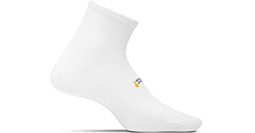 Feetures TWO PAIRS of HP Light Cushion Quarter Socks (Snug Fit) Sz. ()