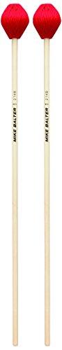Mike Balter Chorale Series Birch Handle Marimba Mallets Red Microfiber Medium - Series Soft Medium Marimba