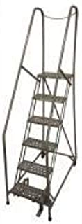 product image for Cotterman 1006R1824A3E10B4D3C1P6 - Rolling Ladder Steel 90In. H. Gray