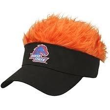 後悔バリケード前にNCAA Officially Licensedボイジー州立ブロンコスFlair Hair Visorキャップ