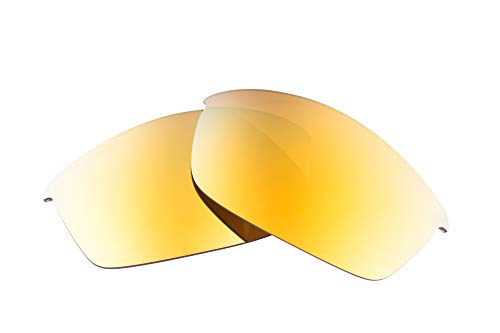 LenzFlip Lenses Compatible with Oakley Flak Jacket - Brown with 24K Gold Mirror