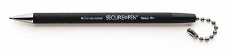 MMF Industries Products - MMF Industries - Secure-A-Pen Replacement Ballpoint Counter Pen, Black Ink, Medium - Sold As 1 Each - Built-in refill. - Rubberized grip and ridges. - Round, adhesive base. - Features 24 ball-chain. - Optional replacement pen av