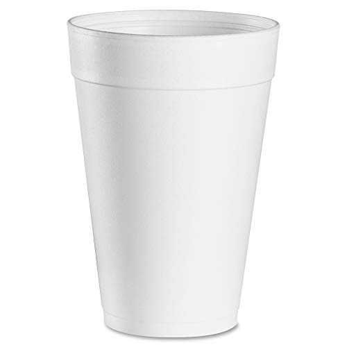 For hot and cold beverages. - DART * Drink Foam Cups, 32oz, White, 25/Bag, 20 Bags/Carton ()