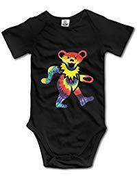 Baby T-shirt Rocks Onesie (Rock The Grateful Dead Dancing Bear Baby Onesie Infant T Shirt)